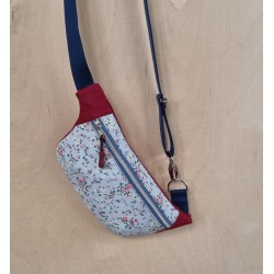 Hip Bag blau/dunkelrot