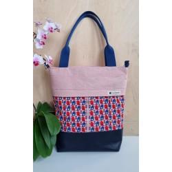 3in1 Tasche rosa/nachtblau