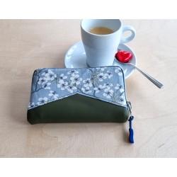 Portemonnaie blau/olivgrün