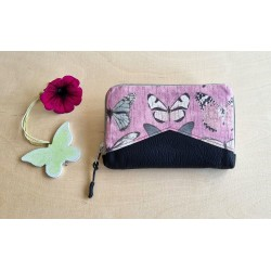 Portemonnaie weinrot/rosa