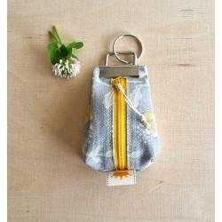 Schlüsselanhänger gelb/grau