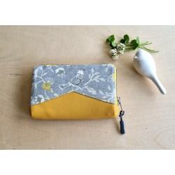 Portemonnaie gelb/grau