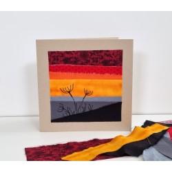 Textilkarte rot/orange