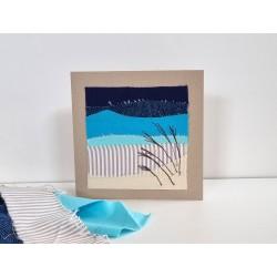 Textilkarte blau
