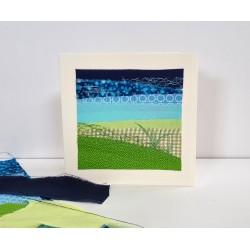 Textilkarte blau/grün