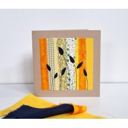 Textilkarte gelb/hellgrün