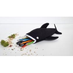 Walhai-Etui schwarz/weiss