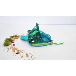 Walhai-Etui grün/blau