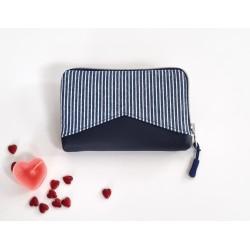 Portemonnaie jeansblau/rot