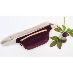 Hip Bag aubergine/senfgelb