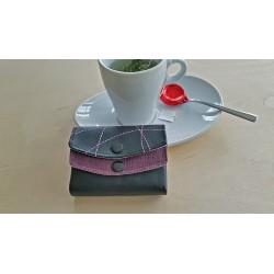 Mini-Portemonnaie schwarz/lila