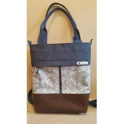 3in1 Tasche dunkelblau/braun